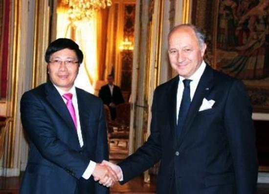 В Ханое состоялись переговоры между главами МИД Вьетнама и Франции - ảnh 1