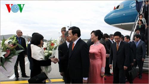 Президент Чыонг Тан Шанг и высокопоставленная делегация Вьетнама прибыли в Будупешт - ảnh 1