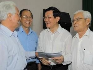Президент СРВ Чыонг Тан Шанг встретился с избирателями г.Хошимина - ảnh 1