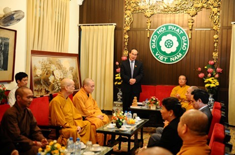 Вьетнамская буддийская сангха всегда стоит плечом к плечу с народом - ảnh 1