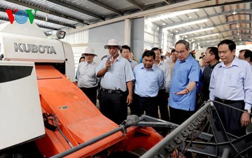 Глава ОФВ Нгуен Тхиен Нян провёл осмотр моделей кооперативов в городе Кантхо - ảnh 1