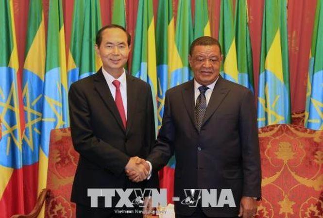 Совместное заявление по итогам государственного визита президента Вьетнама в Эфиопию  - ảnh 1