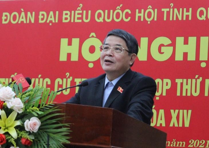 Вице-спикер парламента Нгуен Дык Хай провел встречу с избирателями в Куангнаме - ảnh 1