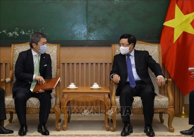 Вице-премьер Фам Бинь Минь принял управляющего директора японской корпорации Sumitomo Mitsui - ảnh 1