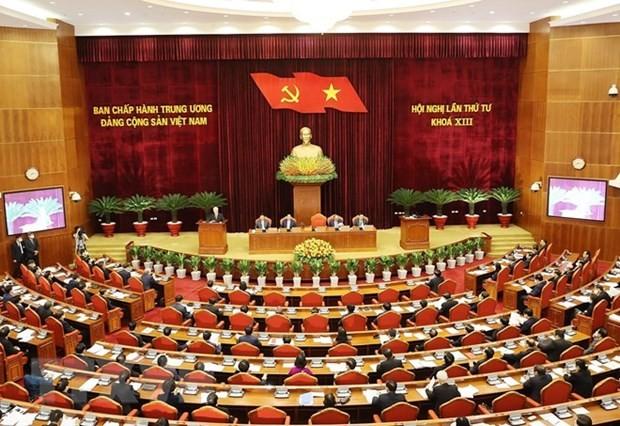 На 4-м Пленуме ЦК КПВ 13-го созыва обсуждается вопрос активизации строительства и упорядочения партийных рядов   - ảnh 1