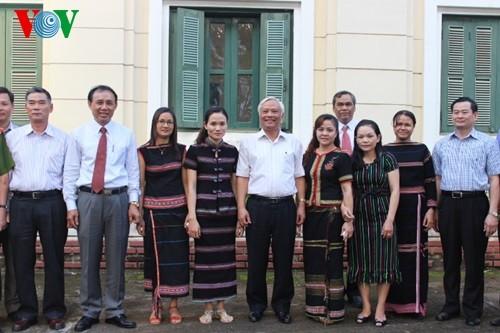Phó Chủ tịch Quốc hội Uông Chu Lưu thăm Cơ quan Thường trú Đài TNVN khu vực Tây Nguyên  - ảnh 1