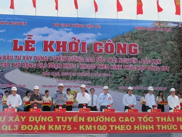 Khởi công xây dựng tuyến cao tốc Thái Nguyên - Chợ Mới - ảnh 1