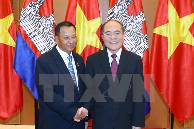 Chủ tịch Thượng viện Vương quốc Campuchia kết thúc tốt đẹp chuyến thăm chính thức Việt Nam - ảnh 1
