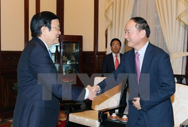 Chủ tịch nước Trương Tấn Sang tiếp Tổng giám đốc Công ty Samsung Việt Nam - ảnh 1