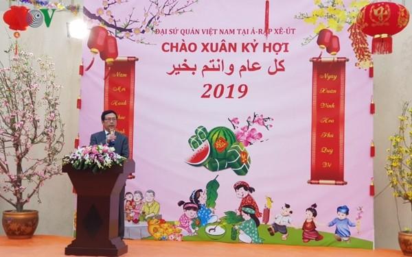 Đại sứ quán Việt Nam tại Ả-rập Xê-út tổ chức Tết Cộng đồng 2019 - ảnh 1