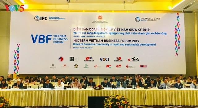 Diễn đàn Doanh nghiệp Việt Nam giữa kỳ 2019: Thúc đẩy sự phát triển của khu vực kinh tế tư nhân - ảnh 1