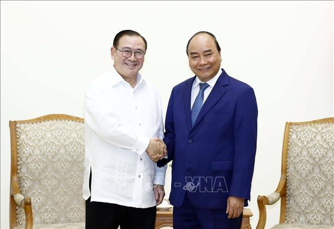 Thủ tướng Chính phủ Nguyễn Xuân Phúc tiếp xã giao Bộ trưởng Ngoại giao Philippines - ảnh 1