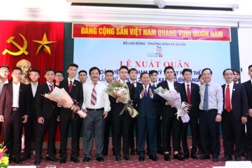 Lễ xuất quân đoàn thí sinh Việt Nam tham dự kỳ thi tay nghề Thế giới lần 45 tại Nga - ảnh 1