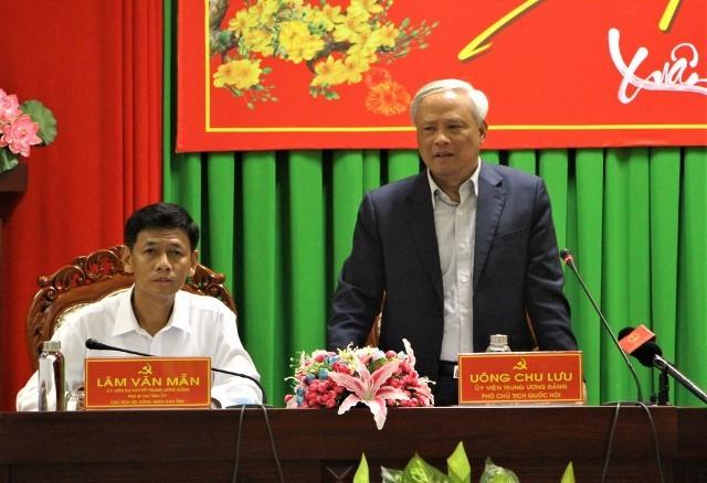Phó Chủ tịch Quốc hội Uông Chu Lưu làm việc tại tỉnh Sóc Trăng - ảnh 1