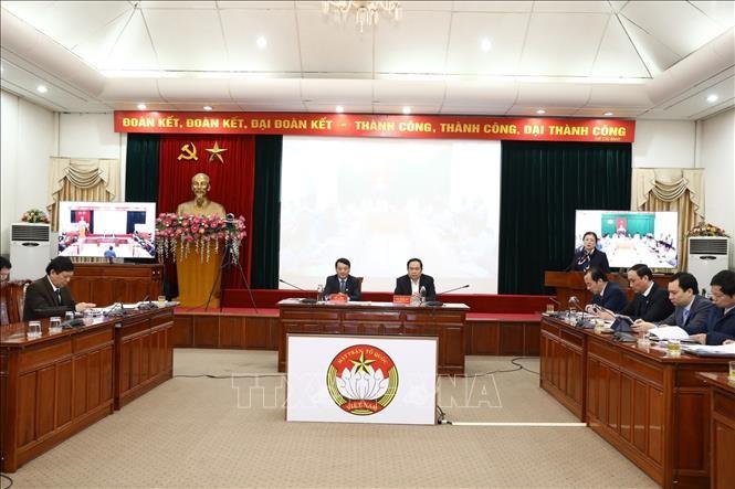 Hội nghị trực tuyến triển khai công tác mặt trận năm 2020  - ảnh 1