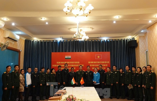 Thúc đẩy chia sẻ kinh nghiệm giữa sĩ quan trẻ Việt Nam - Ấn Độ - ảnh 1