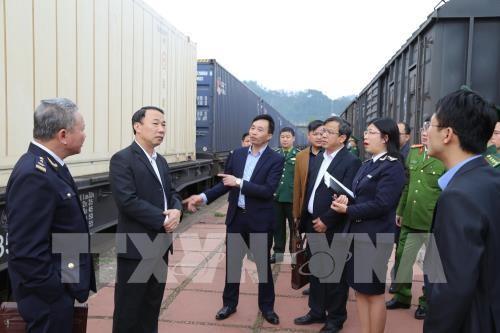 Xuất khẩu 460 tấn nông sản qua cửa khẩu ga đường sắt Quốc tế Đồng Đăng - ảnh 1