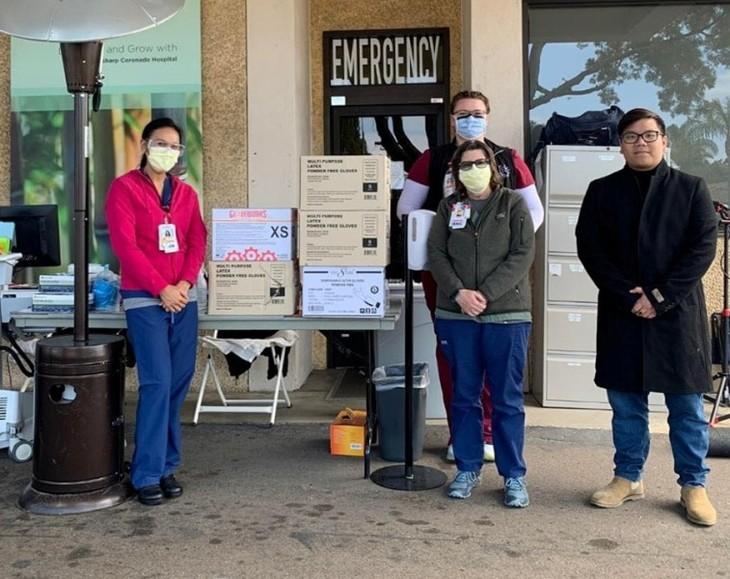 Hội Thanh niên Sinh viên Việt Nam tại California ủng hộ hơn 5000 đôi găng tay bảo hộ cho các bệnh viện địa phương - ảnh 2