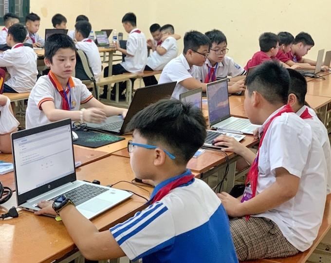 """Hà Nội chú trọng tạo """"sân chơi"""" ứng dụng tin học cho thanh thiếu nhi - ảnh 1"""