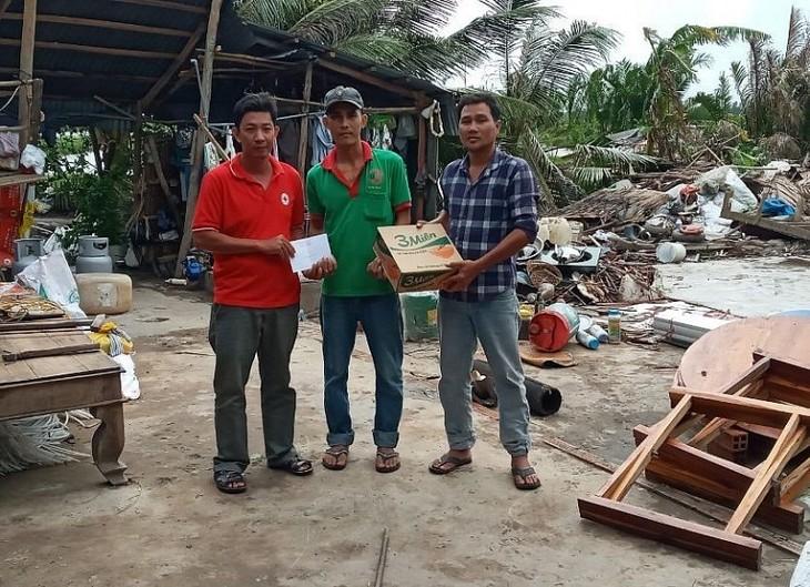 Hội Chữ thập đỏ Việt Nam hỗ trợ người dân bị ảnh hưởng của hoàn lưu bão số 2 tại Kiên Giang - ảnh 1