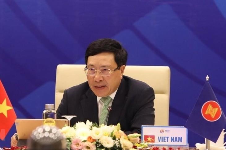 Các hoạt động đầu tiên trong khuôn khổ Hội nghị Bộ trưởng Ngoại giao ASEAN lần thứ 53 - ảnh 1