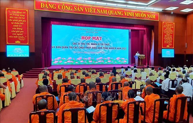 Sóc Trăng: Họp mặt nhân sĩ trí thức và Ban quản trị các chùa Phật giáo Nam tông Khmer - ảnh 1