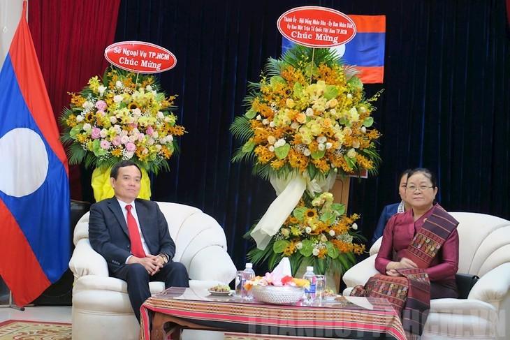 Chúc mừng Tết cổ truyền Bunpimay của Lào - ảnh 1