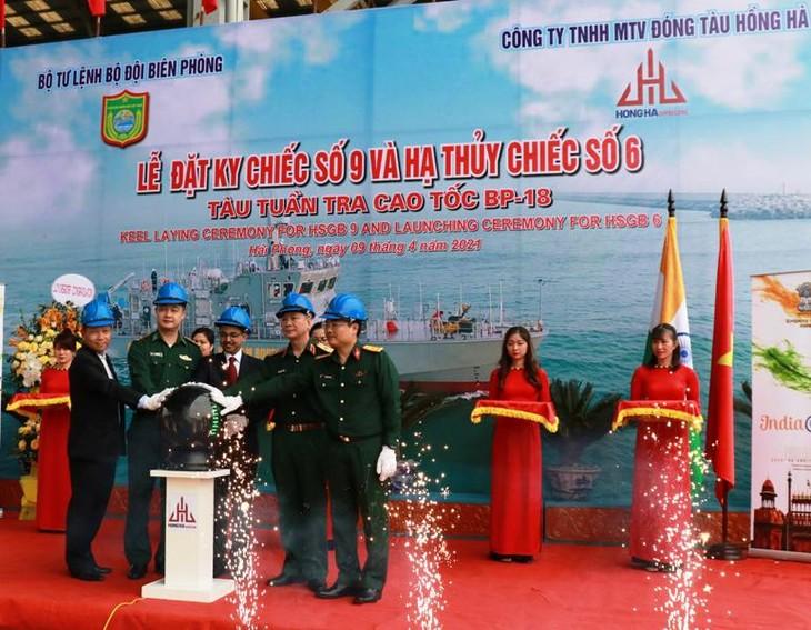 Lễ hạ thủy tàu tuần tra cao tốc theo gói tín dụng quốc phòng trị giá 100 triệu USD - ảnh 1