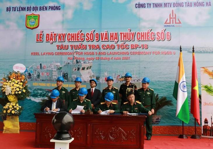 Lễ hạ thủy tàu tuần tra cao tốc theo gói tín dụng quốc phòng trị giá 100 triệu USD - ảnh 2