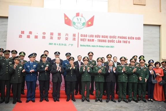 Giao lưu hữu nghị Quốc phòng biên giới Việt Nam - Trung Quốc lần thứ 6 - ảnh 1