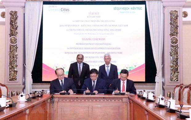Thành phố Hồ Chí Minh và Singapore hợp tác phát triển quy hoạch đô thị  - ảnh 1