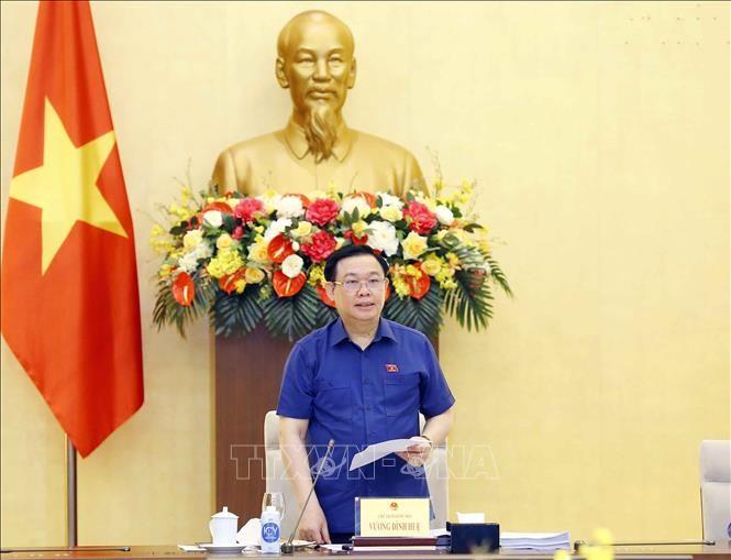 Chủ tịch Quốc hội Vương Đình Huệ làm việc với Văn phòng Quốc hội - ảnh 1