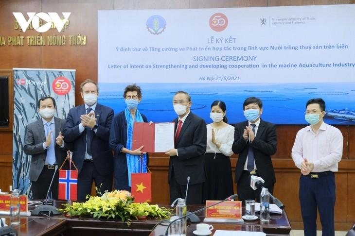 Ký kết ý định thư hợp tác thủy sản giữa Việt Nam và Na Uy - ảnh 1