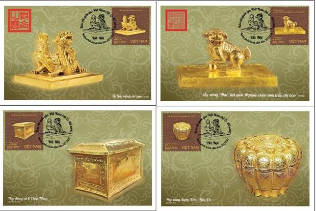 """""""Đồ vàng"""" trong bộ tem Bảo vật quốc gia Việt Nam  - ảnh 1"""