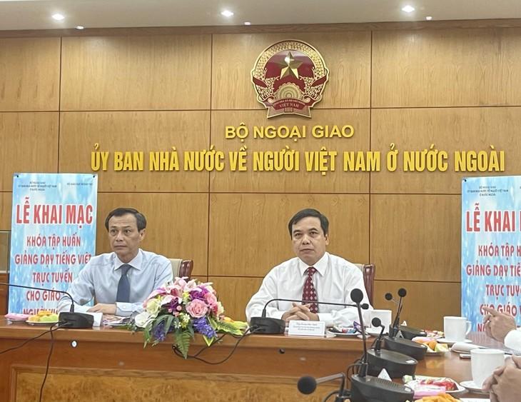 Khai mạc Khóa tập huấn giảng dạy Tiếng Việt cho giáo viên Việt Nam ở nước ngoài năm 2021 - ảnh 2