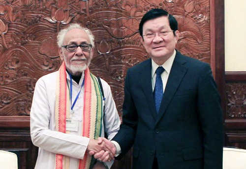Presiden Vietnam Truong Tan Sang menerima Ketua Komite Solidaritas India-Vietnam negara bagian Bengal - ảnh 1