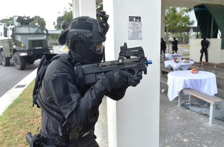 Singapura melakukan latihan anti terorisme dengan skala paling besar - ảnh 1