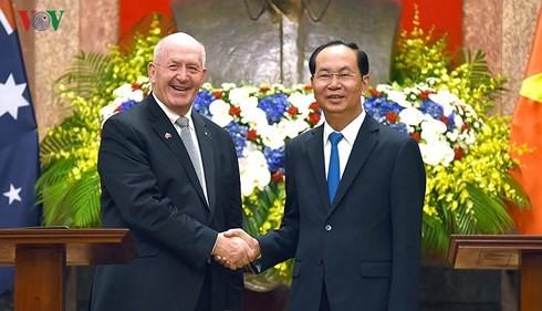 Memperdalam lebih lanjut lagi hubungan Kemitraan Strategis Vietnam-Australia ke satu ketinggian baru - ảnh 1