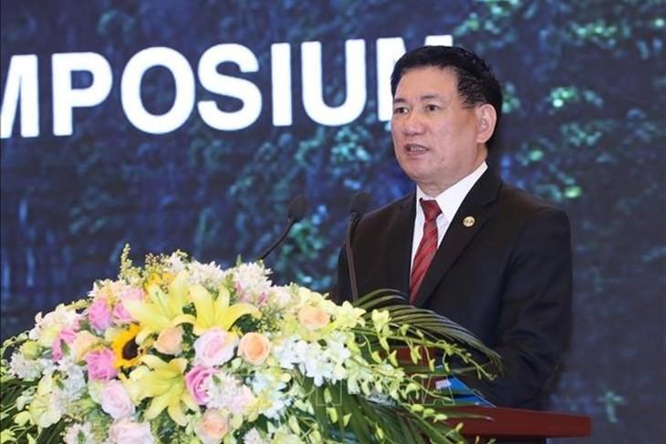 Para  kepala delegasi peserta Kongres ASOSAI 14 mengunjungi Kantor  Badan Pemeriksa Keuangan Negara Viet Nam - ảnh 1