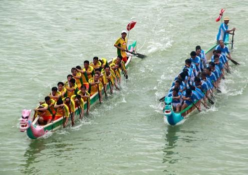 Dragon boat race festival in Ha Tinh - ảnh 1