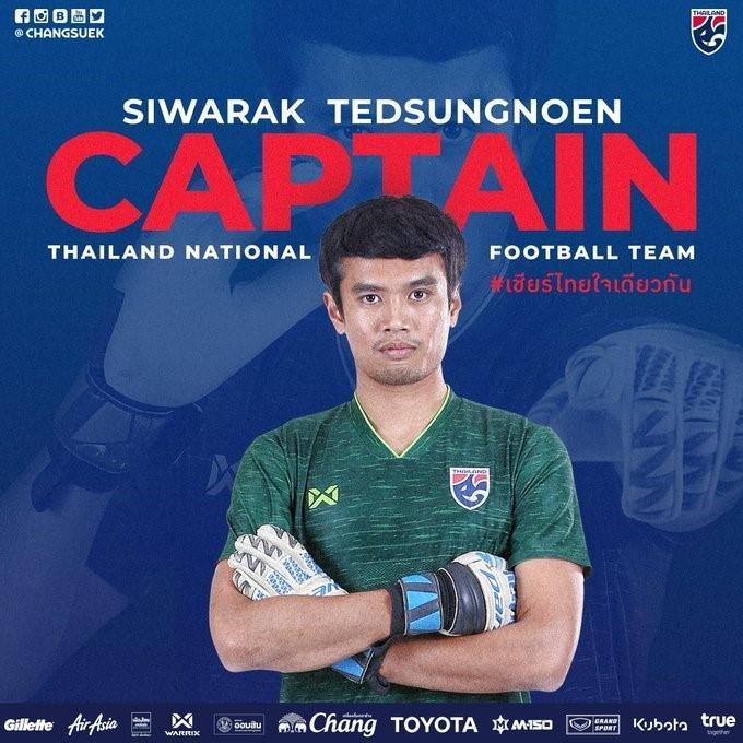 Goalkeeper Siwarak named Thailand's new captain - ảnh 1