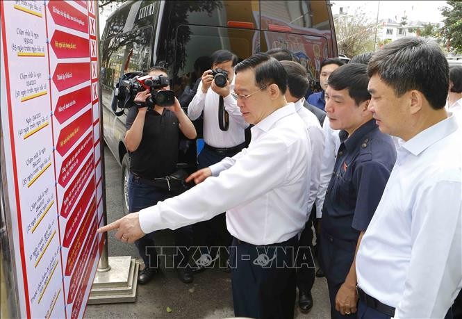 National Assembly Chairman inspects election preparation in Quang Ninh  - ảnh 1