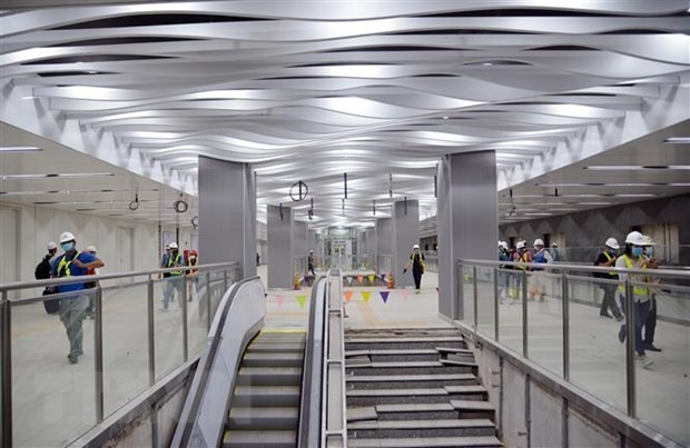Ba Son underground station's first floor of metro line 1 in Ho Chi Minh city inaugurated  - ảnh 1