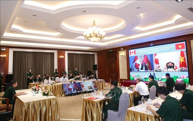 Vietnam, Canada hold first online defence policy dialogue - ảnh 1