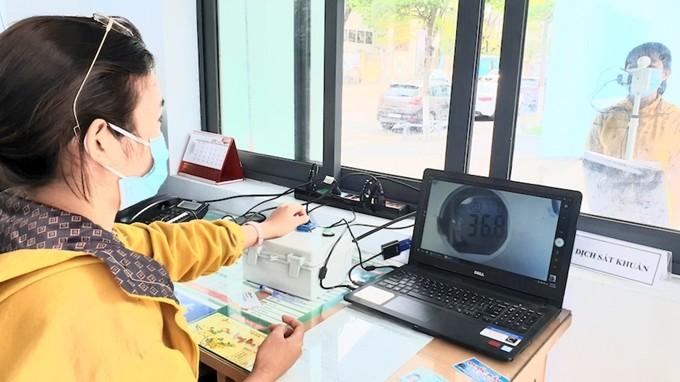 越南岘港大学研制远程体温测量系统 - ảnh 1