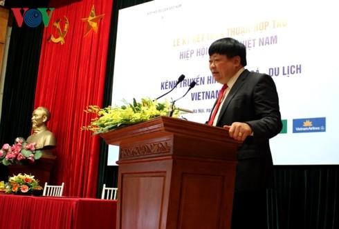 Телеканал культуры и туризма «Vietnam Journey» подписал договор о сотрудничестве с Вьетнамской ассоциацией туризма - ảnh 1
