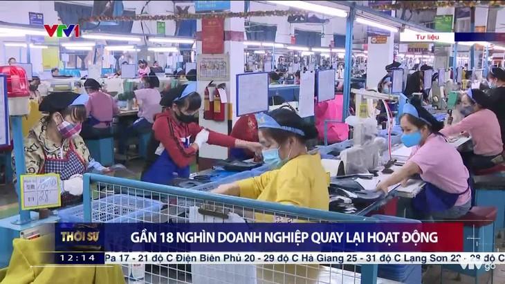 Почти 18 тыс. предприятий Вьетнама возобновили работу после перерыва из-за коронавируса - ảnh 1