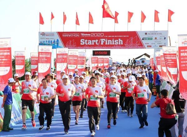 В островном уезде Лишон провинции Куангнай открылся марафон  - ảnh 1