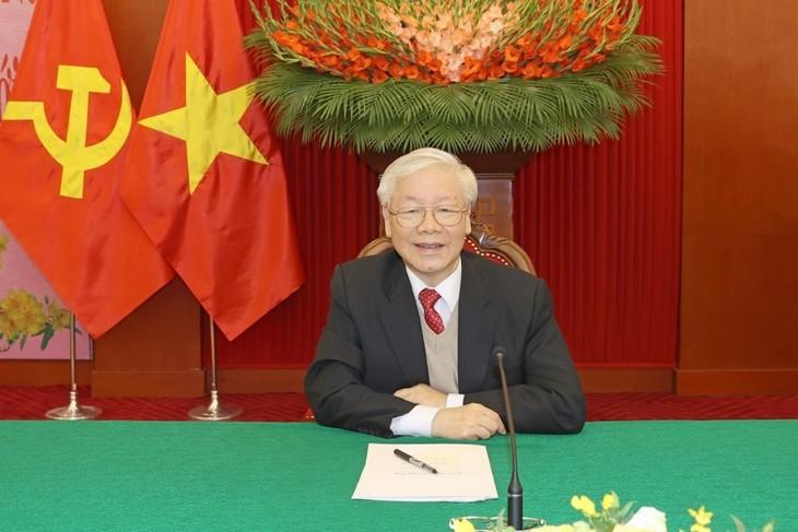 Поздравительная телеграмма от руководителей стран мира переизбранному генеральному секретарю ЦК КПВ, президенту Вьетнама Нгуен Фу Чонгу  - ảnh 1