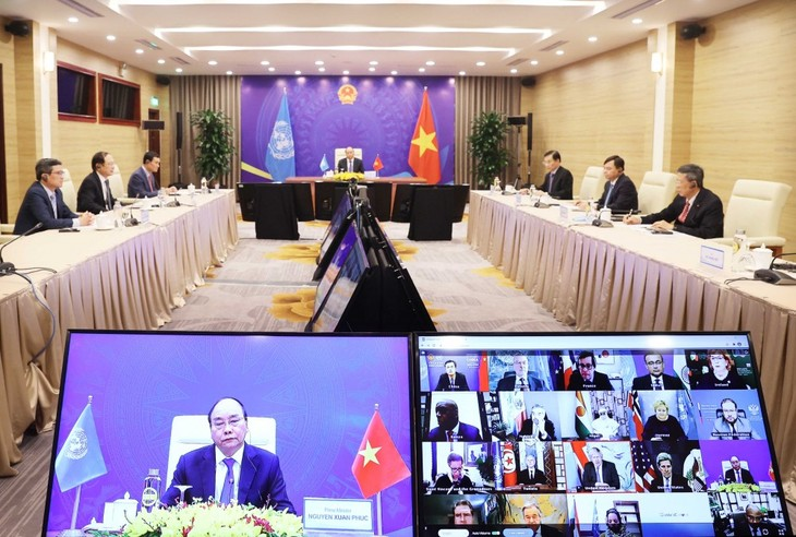 Нгуен Суан Фук принял участие в онлайн-дискуссии СБ ООН, посвященной проблеме изменения климата - ảnh 1